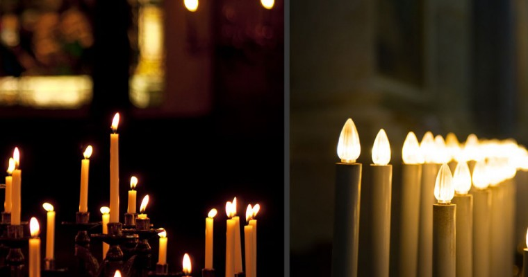 Candele elettriche: quando un culto perde la sua sacralità