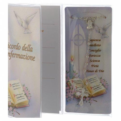libretto ricordo cresima rosario