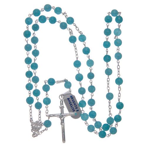 rosario argento 925 e angelite