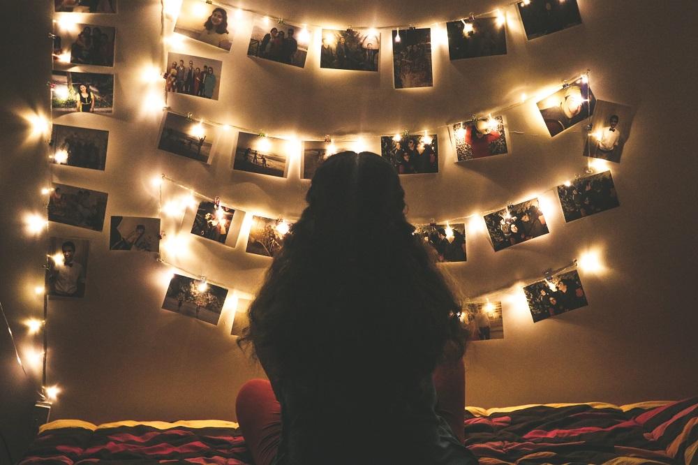 Luci di Natale in camera
