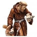 statua-san-francesco-colorato-realistico